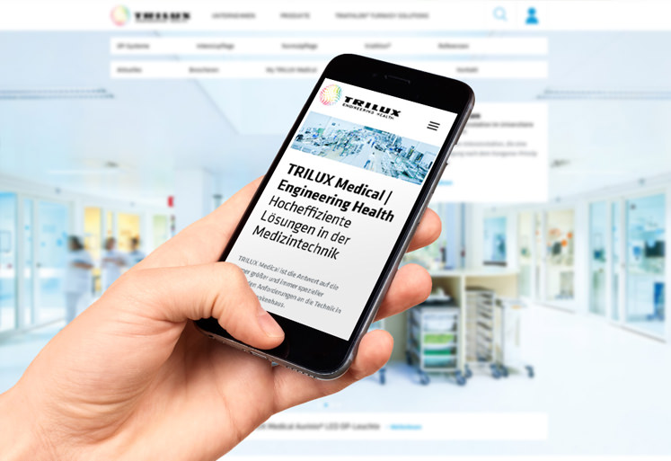 Medizintechnik to go: Responsive Design für TRILUX Medical