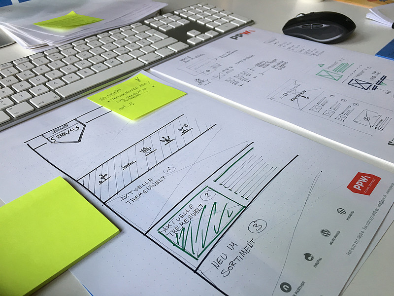 UX Wireframe Scribble Seramis Website