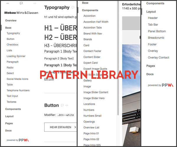 Pattern Library Mobau Wirtz Classen