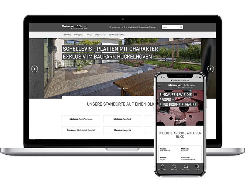 Laptop und Smartphone - Mobau Wirtz Classen