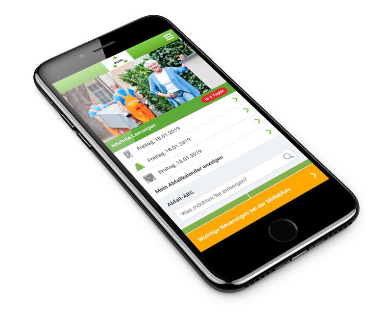 RSAG Entsorung App Startseite