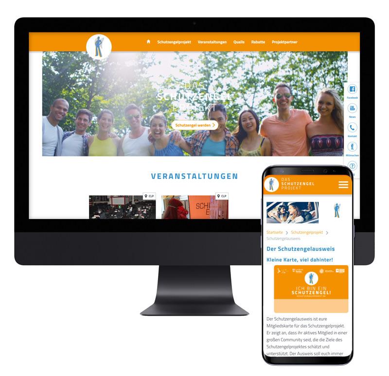 Schutzengelprojekt-Referenz-Responsive Screens
